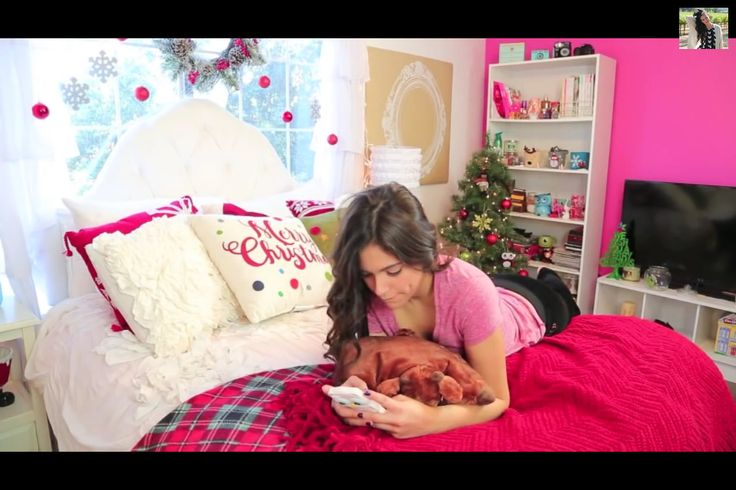 Bethany Mota Christmas roomspiration