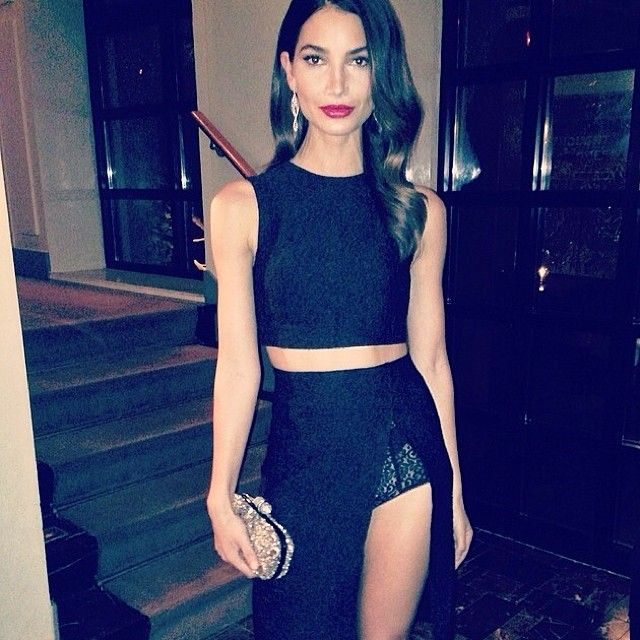 """@imgmodels's photo: """"@Lily Morello followill dressed to impress @SI_Swimsuit launch """""""
