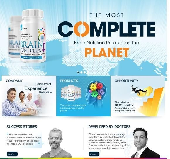 This is something that everybody needs!! For stress, for focus, for memory! This product will help a lot of people!  Try out how it feels to have a sharp mind!   To work without stress and headache. The most complete brain nutrition product on the planet!  And this is not all!! The best is that you can earn a lot of money at the same time!!   Have a look at our compensation plan! Don't lose this opportunity!  Join us now and lock your place!