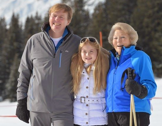 The Dutch Royal Family posed for the media during their winter holiday in the Austrian skiing resort of Lech. 2/23/2015