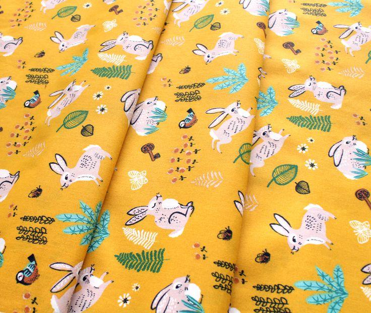 Birch Fabrics The Hidden Garden Bunny Hop Marigold