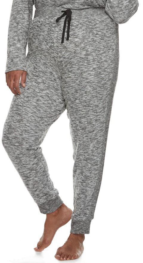 Cuddl Duds Plus Size Pajamas: Snow Days Jogger Pants