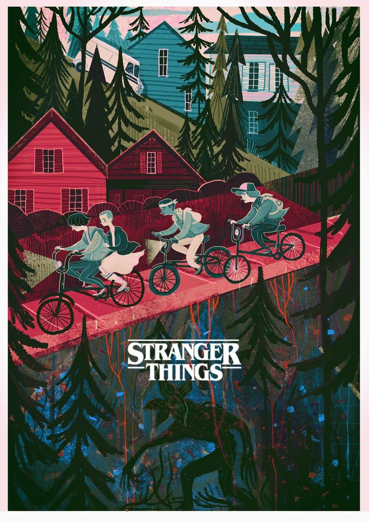 Stranger things illustration by Karl James Mountford