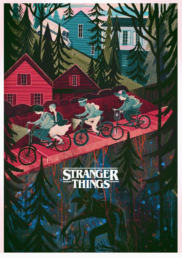 Stranger things illustration by Karl James Mountford