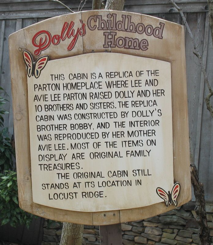 Replica of Dolly Parton's house in Pigeon Forge, TN (Dollywood) where Dolly and her 10 brothers and sisters grew up.