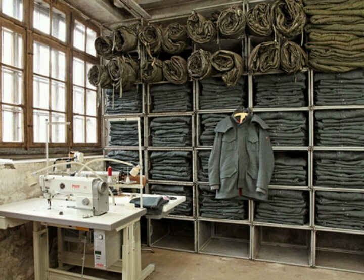 Re-appropriated Swiss military fabrics.