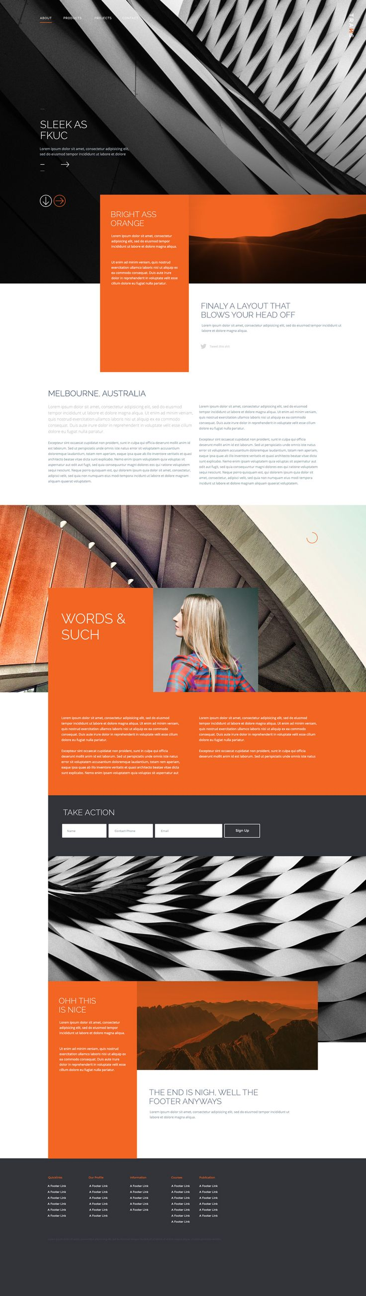 Trans – Free PSD website template