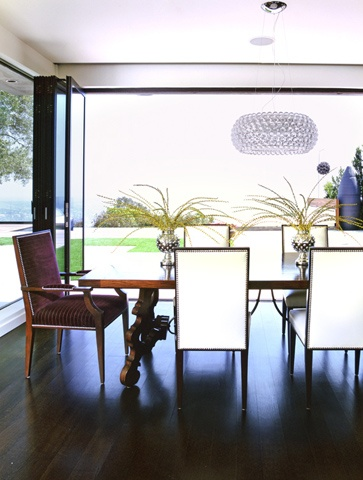 doors that open to outside ... light: foscarinin's caboche chandelier thru YLighting