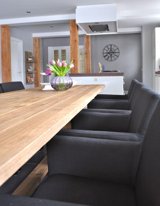 woonkeuken in woonboerderij | kitchen in modern country farm | Stylist en Interieurontwerper www.stijlidee.nl