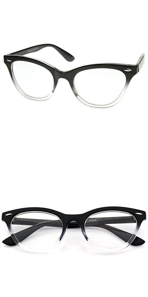 AStyles - Vintage Inspired Gradient Half Tinted Frame Clear Lens ...
