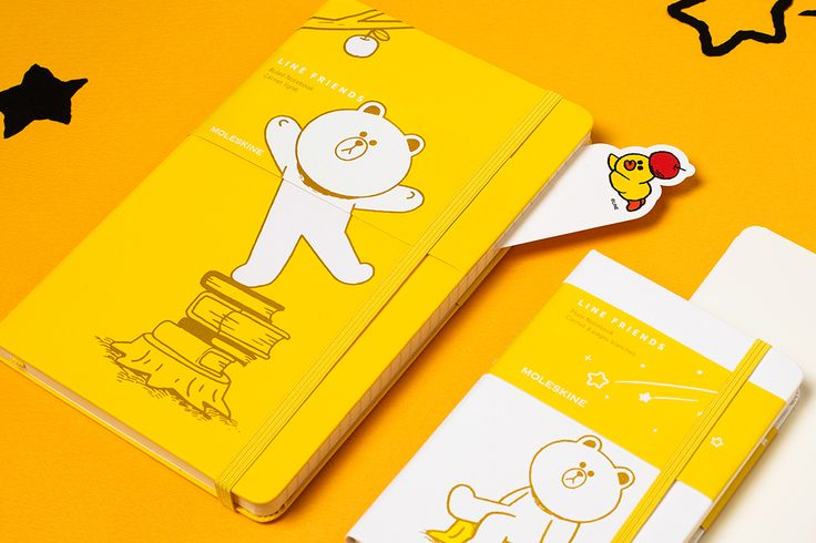 Line Friends Collection - Plain Pocket Notebook and Ruled Large Notebook