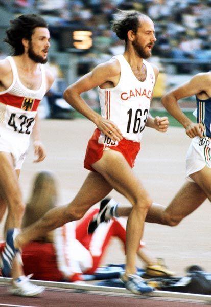 Grant McLaren du Canada (163) participe au 5000 m aux Jeux olympiques de Montréal de 1976. (Photo PC/AOC)