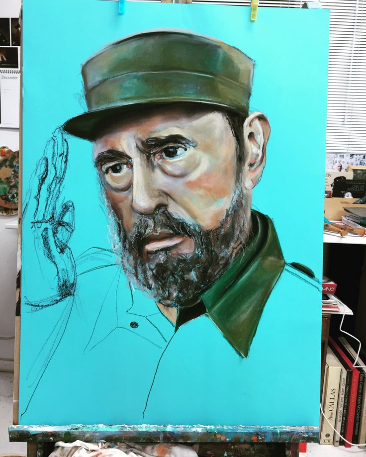 Fidel, drawing, pastel, Esther Eggink