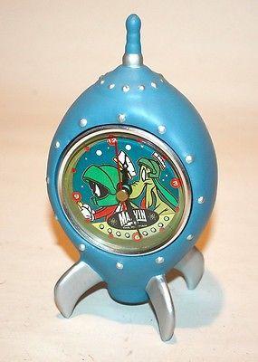 Rare Marvin Martian Ceramic Clock Warner Bros Great Hard