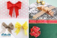 Wir zeigen Ihnen in dieser Anleitung vier super einfache Varianten, um Geschenkschleifen binden zu können. So machen Sie jedes Geschenk zum Hingucker!