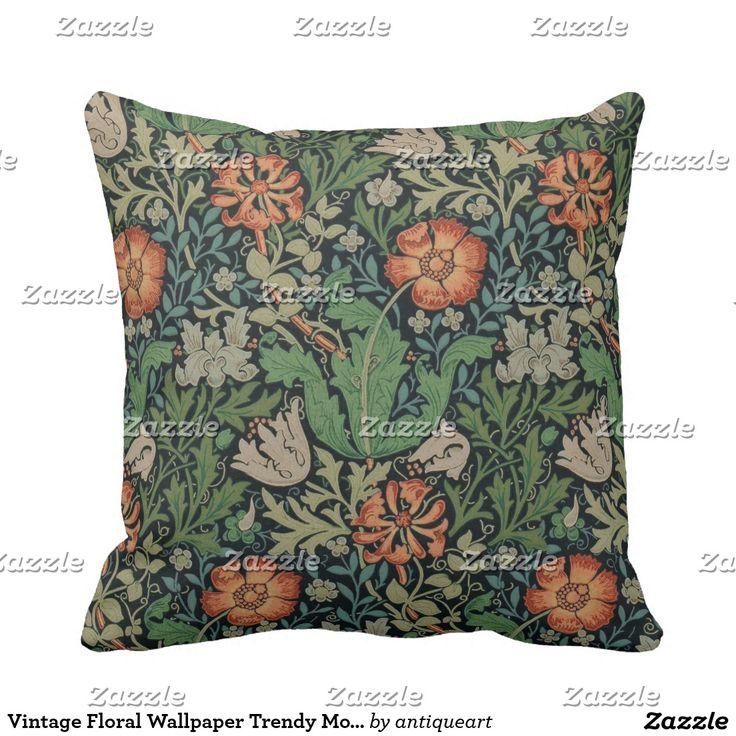 Vintage Floral Wallpaper Trendy Morris Compton