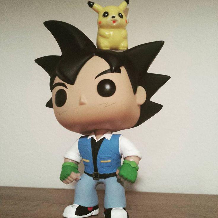 Custom Pokemon Ash Ketchum Funko Pop vinyl figure hatless variant with Pikachu figure by LFCustomPops on Etsy https://www.etsy.com/listing/259041718/custom-pokemon-ash-ketchum-funko-pop