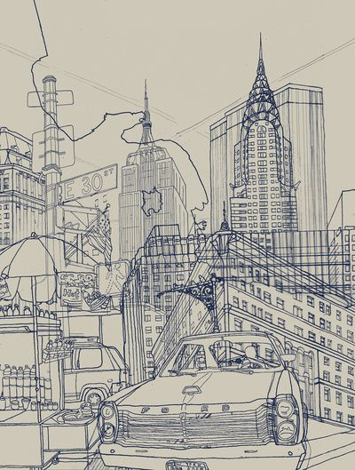 New York! Art Print