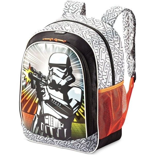 Star Wars Stormtrooper Backpack by American Tourister ($40) ❤ liked on Polyvore featuring bags, backpacks, star wars storm trooper, pocket bag, rucksack bags, day pack rucksack, backpack bags and american tourister bags