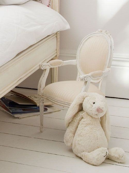 Petite Sweetpea Carved Chair Classical White | Sweetpea & Willow