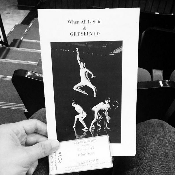 Program in hand and ready for the 5:45pm show.