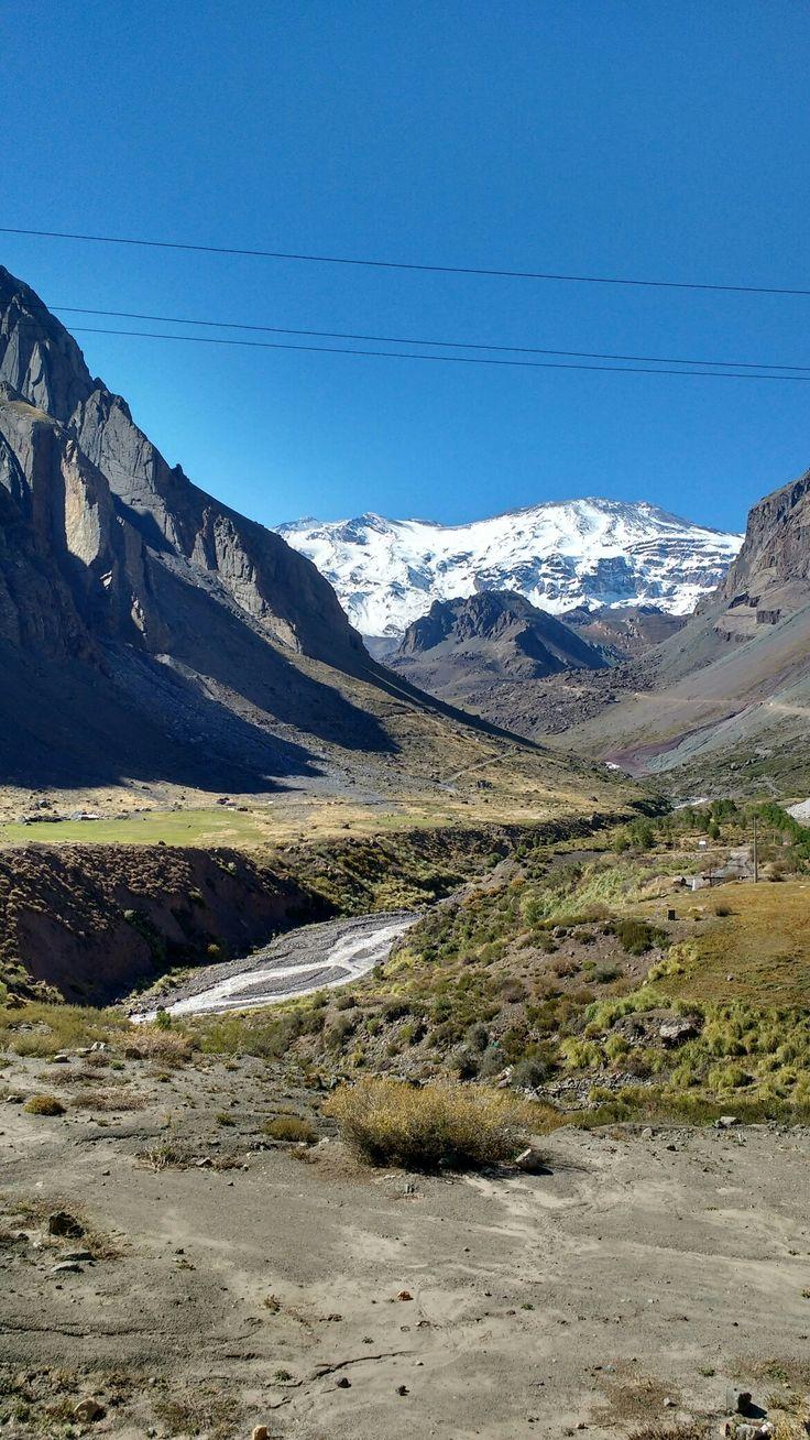Camino a Baños Colina, Cajón del Maipo, Santiago, Chile - SCL