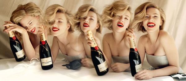 Scarlett Johansson in Moet and Chandon Campaign 2011