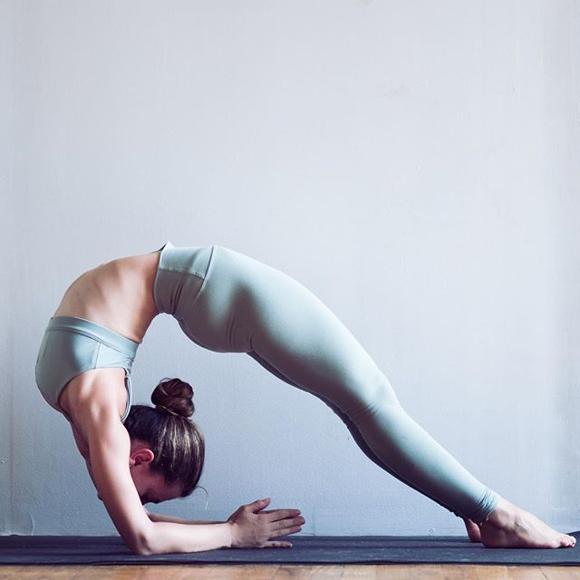 Yoga is a daily process of confrontation, acceptance, gratitude and purification. #yoga Thank you @azkosber for the photo! Wearing beautiful Sage color from @aloyoga #aloyoga #beagoddess