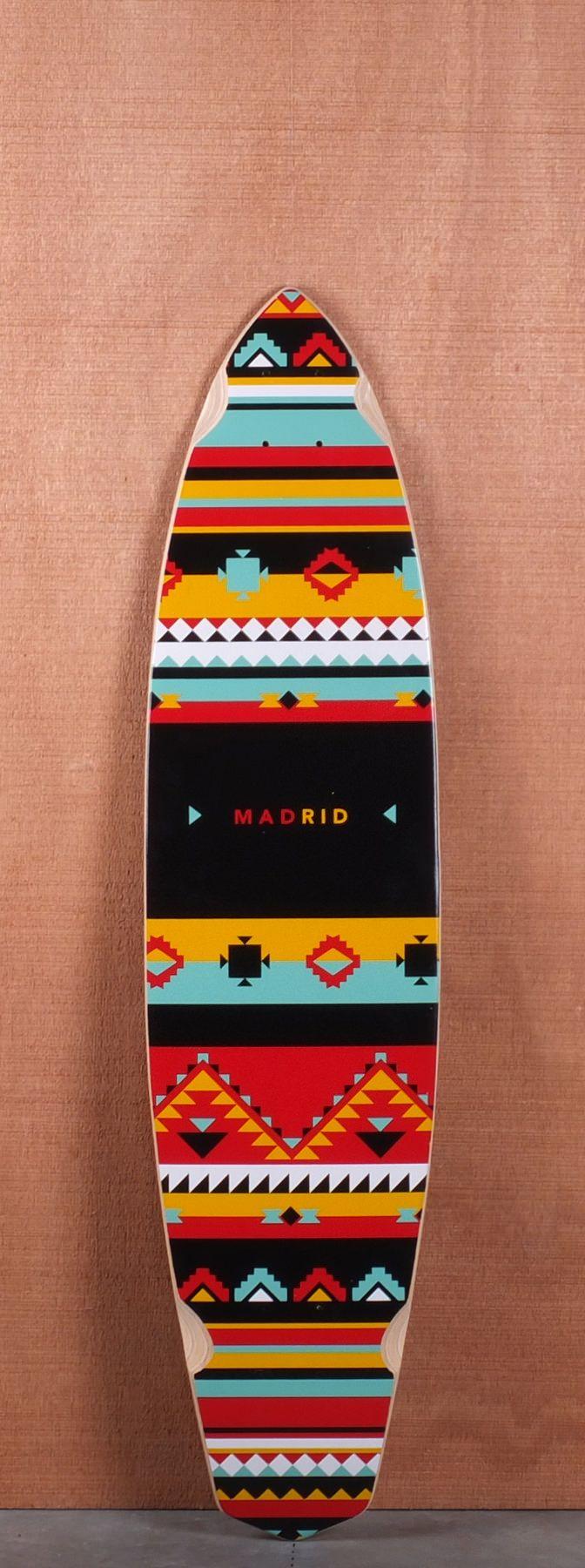 "Madrid 38.75"" Africa #Longboard #Deck | www.boardtrader.com for more boards"