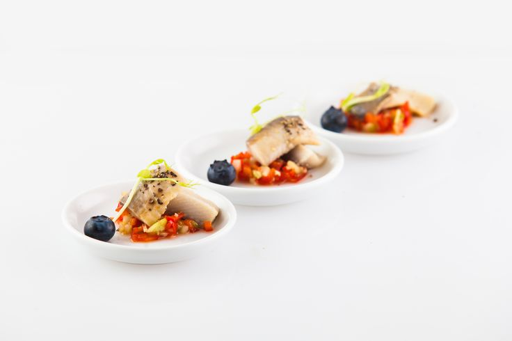 Matjes herring with pickle and pepper salsa