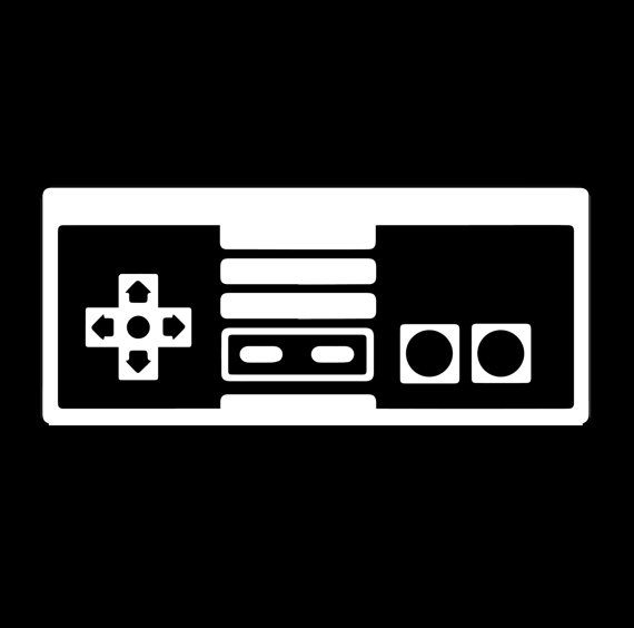 Nintendo Nes Controller Decal Gamer Decal Gamer By