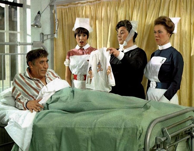 Frankie Howerd, Anita Harris, Hattie Jacques and June Jago. Carry On Doctor. 1967