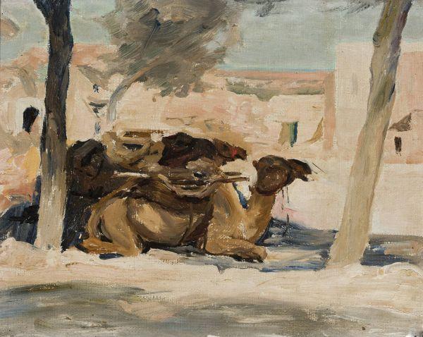 Wielbłąd Z podróży do Palestyny - Jan Ciągliński