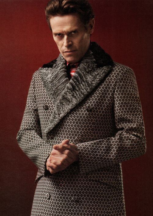Willem Dafoe / Born: William J. Dafoe, July 22, 1955 in Appleton, Wisconsin, USA / wearing Prada