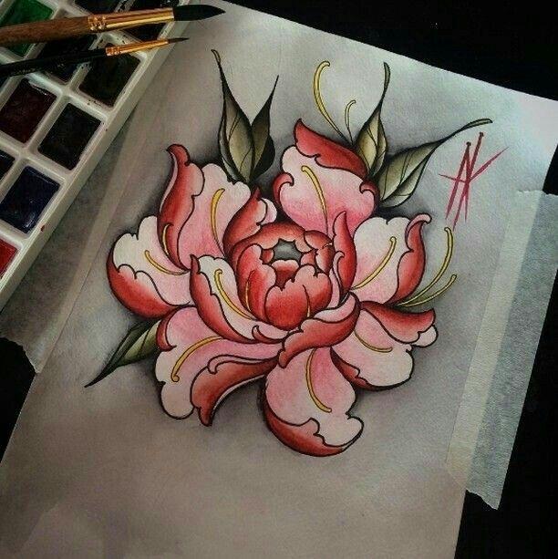 Tattoo pivoine