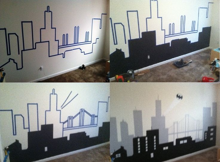 25 best ideas about batman room decor on pinterest for Batman wall mural decal