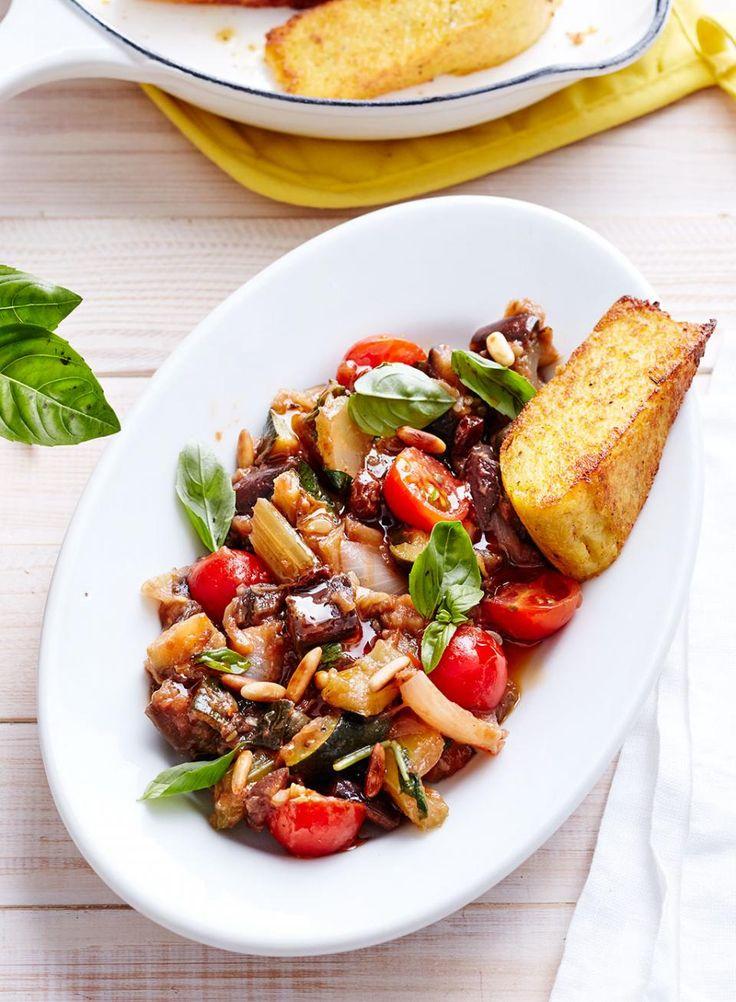 Rezept: Caponata mit Kirschtomaten und Basilikum
