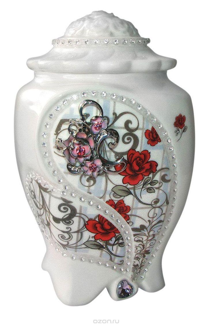 Купить Teabreeze Земляника со сливками чай ароматизированный в керамической чайнице, 100 г в интернет-магазине OZON.ru