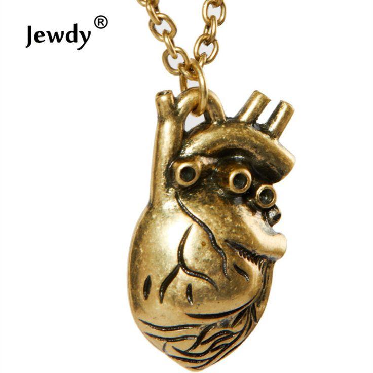 Ánh nắng mặt trời giải phẫu tim mặt dây chuyền vòng cổ Châu Âu thời trang 3 colors bất tim vintage anatomy tim antique bronze cho nam giới phụ nữ