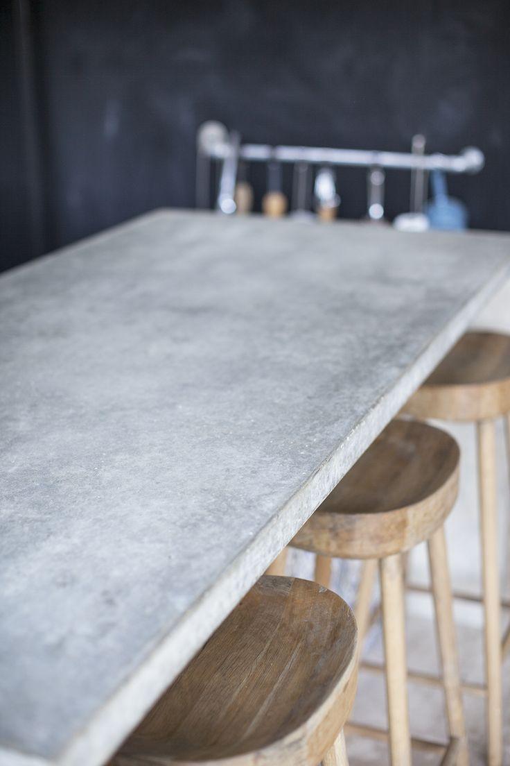 Concrete bar countertop