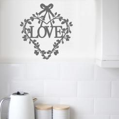 """A shabby chic style decoration for your walls! Vintage wallsticker inspired by """"Love"""" and French Style"""