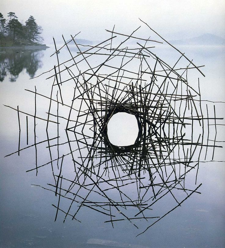 Andy Goldsworthy. Beautiful land art…and what a name! I would like to be called Goldsworthy, please.