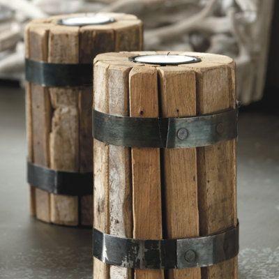 Bundled wood candle votives - possible diy?