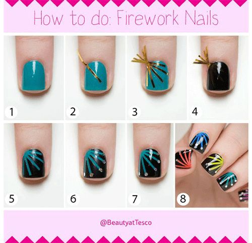 17 best happy new year eve nail art tutorials images on pinterest happy new year eve nail art tutorials prinsesfo Choice Image