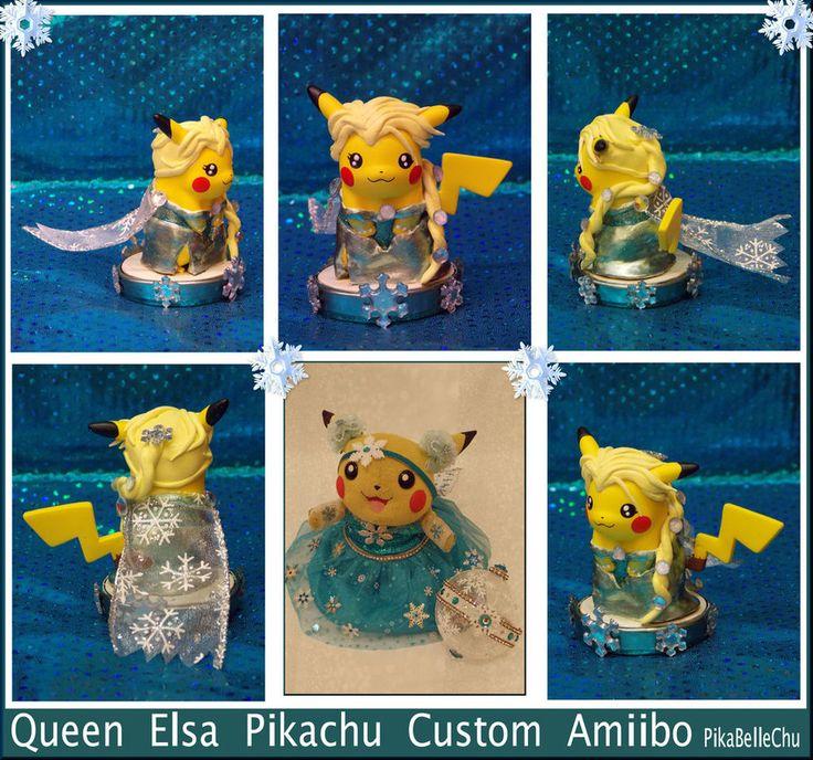 Custom Queen Elsa Pikachu Amiibo by pikabellechu