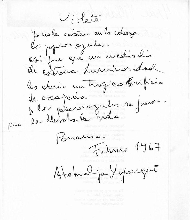 Poema a Violeta Parra. Atahualpa Yupanqui.