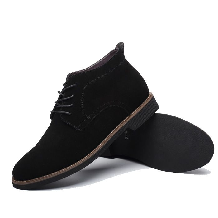 suede ankle boots- Blk