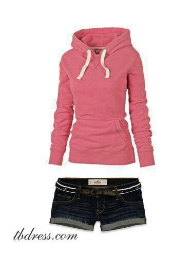 Hoodies & Shorts... Perfect for campfire nights:)
