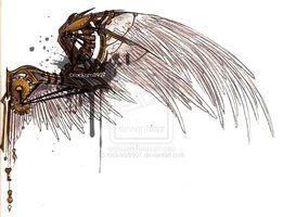 deviantART: More Like Steampunk Wing Tattoo Design by ~NepherimCrystal