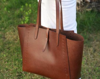 Leder Shopper Tasche Braun - Leder Tragetasche - Leder Handtasche - Leder Schultertasche
